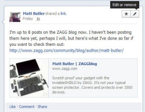 Facebook Edit Comments