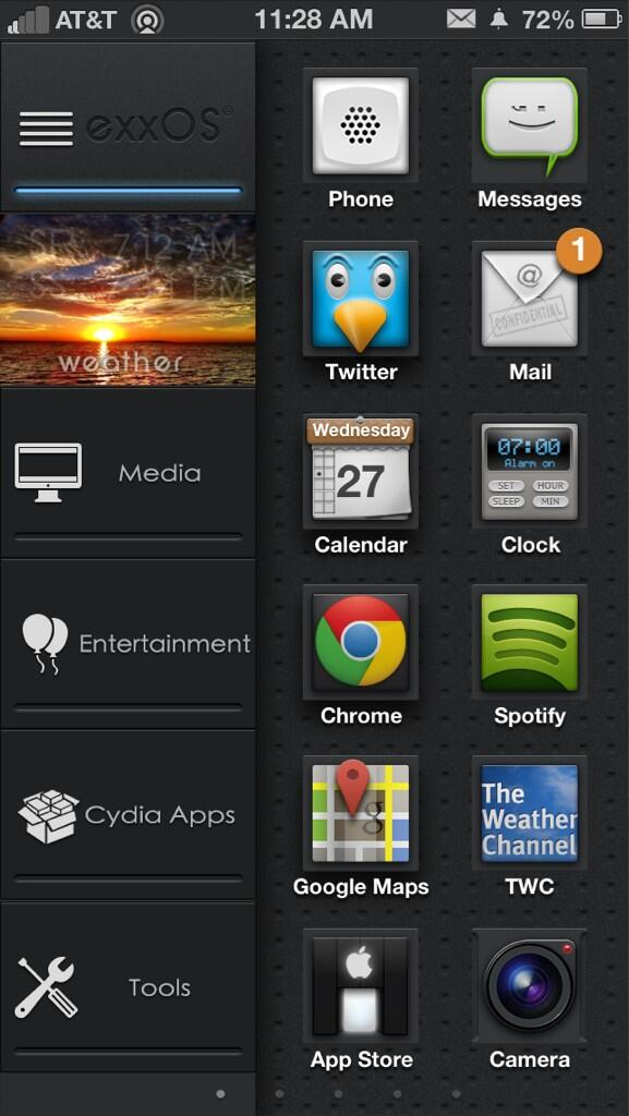 iPhone 5 with custom theme