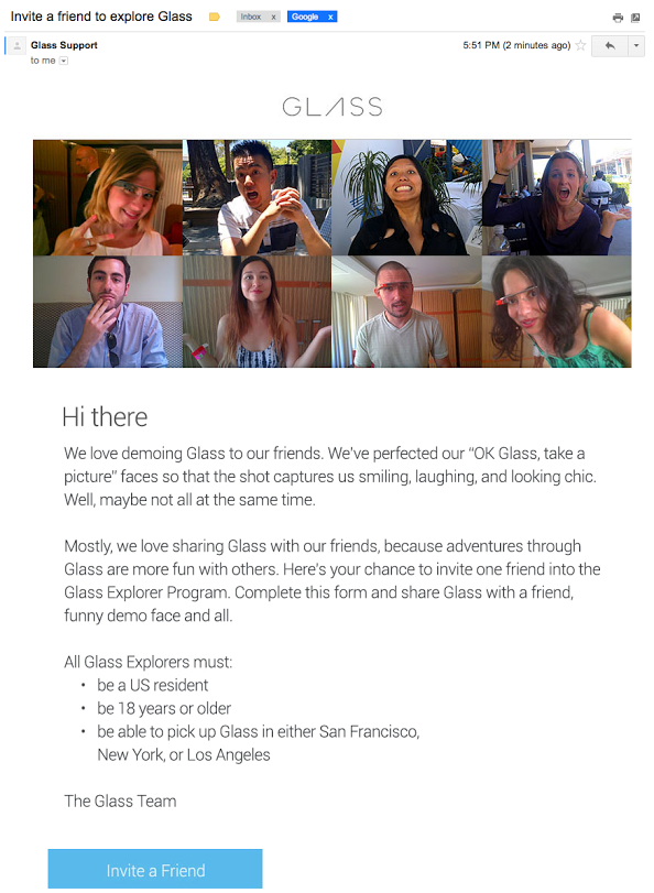 Google Glass Invites