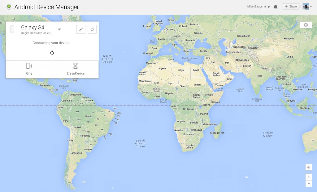 Android Device Manager Web Interface