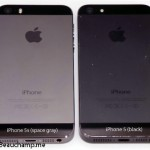 iPhone 5s (Space Gray) and iPhone 5 (Black)
