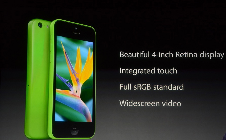 iPhone 5c Screen info