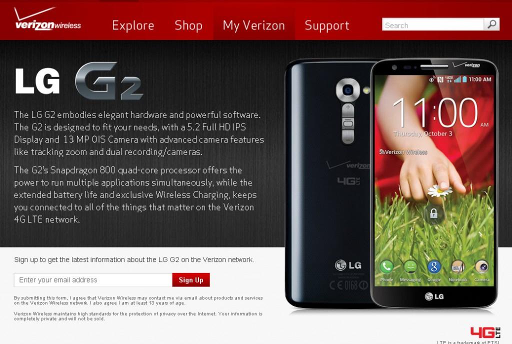 LG G2 - Verizon 4G LTE