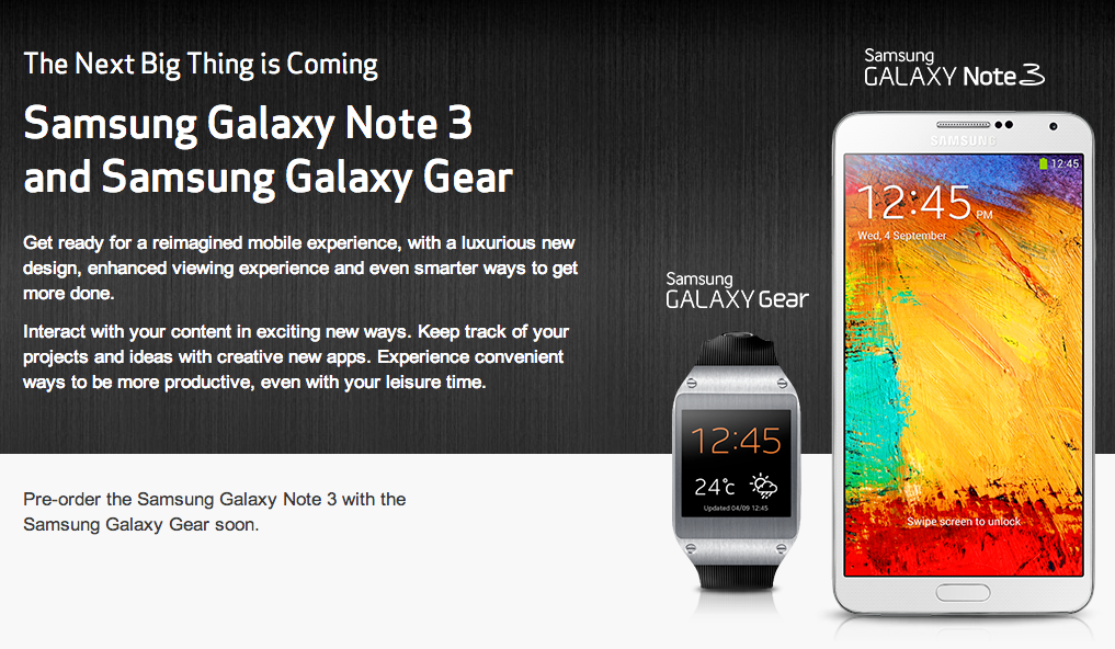 Verizon Galaxy Note 3 and Galaxy Gear