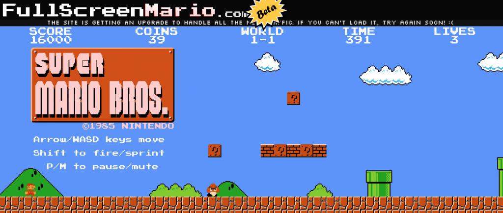 old super mario bros online