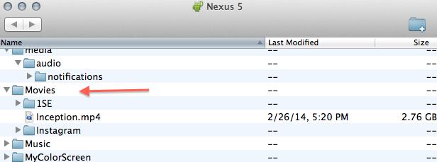 Nexus 5 Folders