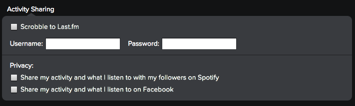 Spotify Activity Sharing