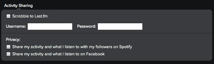 Spotify Activity Sharing