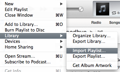 iTunes Import